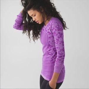 Lululemon purple swiftly tech long sleeve top